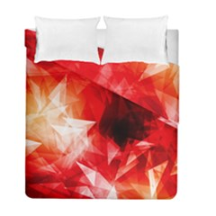 Colorful Geometric Triangle Diamond Duvet Cover Double Side (full/ Double Size)