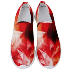 Colorful Geometric Triangle Diamond Men s Slip On Sneakers