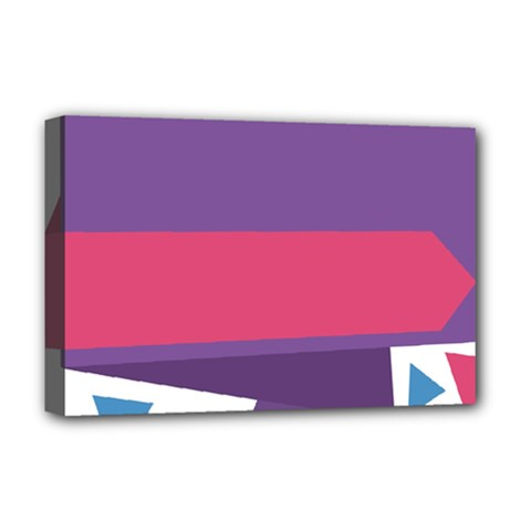 Triangle Fragment Ribbon Title Box Deluxe Canvas 18  X 12  (stretched)