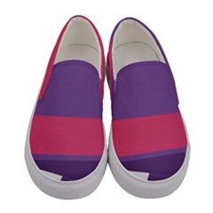 Triangle Fragment Ribbon Title Box Women s Canvas Slip Ons