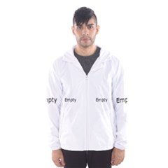 Black And White Abstract Pattern Hooded Windbreaker (men)