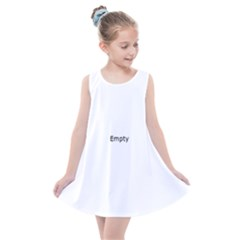 Black And White Abstract Pattern Kids  Summer Dress