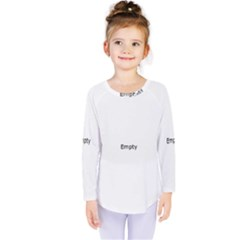 Black And White Abstract Pattern Kids  Long Sleeve Tee