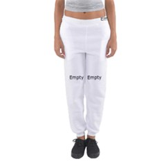 Black And White Abstract Pattern Women s Jogger Sweatpants