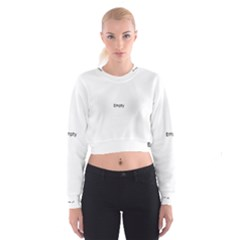 Black And White Abstract Pattern Cropped Sweatshirt
