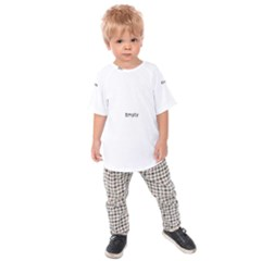 Black And White Abstract Pattern Kids Raglan Tee