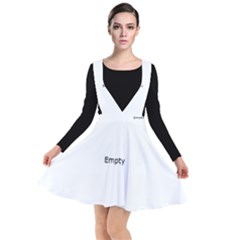 Black And White Abstract Pattern Plunge Pinafore Dress