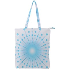 Blue Firework Double Zip Up Tote Bag