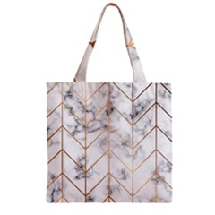 Vector Marble Texture Seamless Pattern  Zipper Grocery Tote Bag