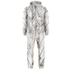 Vector Marble Texture Seamless Pattern  Hooded Jumpsuit (men)
