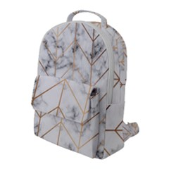 Vector Marble Texture Seamless Pattern  Flap Pocket Backpack (large) by Bejoart