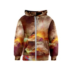 Abstract 3d Graphics Psychedelic Nebula Space Kids  Zipper Hoodie