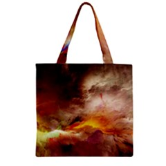 Abstract 3d Graphics Psychedelic Nebula Space Zipper Grocery Tote Bag