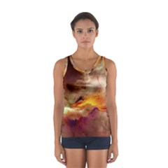 Abstract 3d Graphics Psychedelic Nebula Space Sport Tank Top