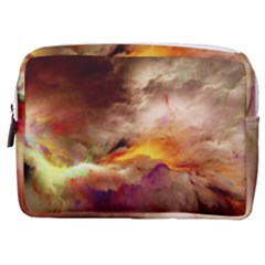 Abstract 3d Graphics Psychedelic Nebula Space Make Up Pouch (medium)