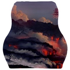 Landscapes Cherry Blossoms Trees Sea Lava Smoke Rocks Artwork Drawings Car Seat Velour Cushion