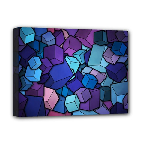 Cubes Vector Deluxe Canvas 16  X 12  (stretched)