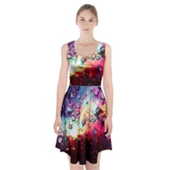 Abstract Colorful Psychedelic Color Racerback Midi Dress