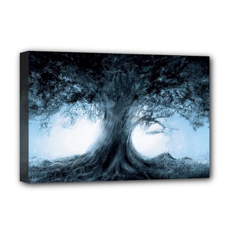 Nature Tree Landscape Art Artwork Artistic Deluxe Canvas 18  X 12  (stretched) by Bejoart