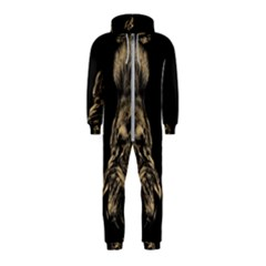 Animals Angry Male Lions Conflict Hooded Jumpsuit (kids)