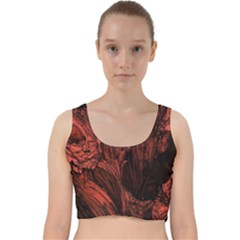Hell Velvet Racer Back Crop Top by Bejoart