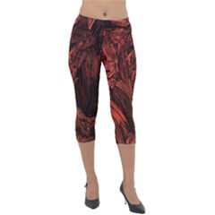 Hell Lightweight Velour Capri Leggings
