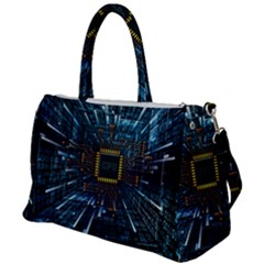 Electronics Machine Technology Circuit Electronic Computer Technics Detail Psychedelic Abstract Patt Duffel Travel Bag