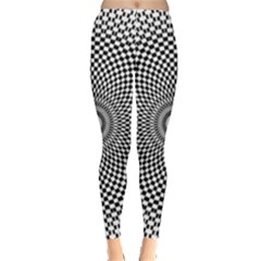 Abstract Animated Ornament Background Leggings