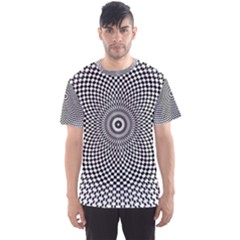 Abstract Animated Ornament Background Men s Sports Mesh Tee