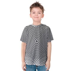 Abstract Animated Ornament Background Kids  Cotton Tee