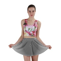 Abstract Animated Ornament Background Mini Skirt
