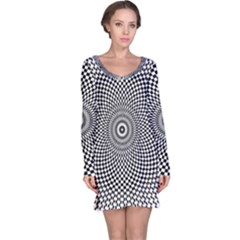 Abstract Animated Ornament Background Long Sleeve Nightdress