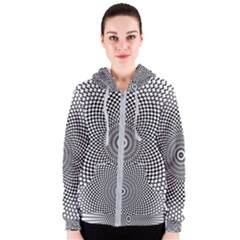 Abstract Animated Ornament Background Women s Zipper Hoodie