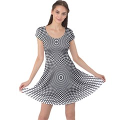 Abstract Animated Ornament Background Cap Sleeve Dress