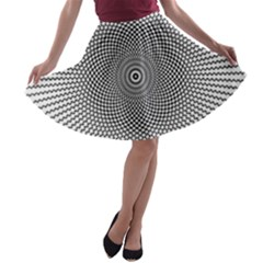 Abstract Animated Ornament Background A Line Skater Skirt