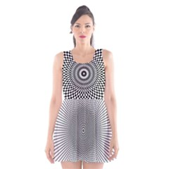 Abstract Animated Ornament Background Scoop Neck Skater Dress