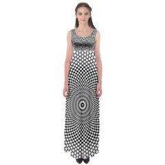 Abstract Animated Ornament Background Empire Waist Maxi Dress
