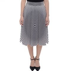 Abstract Animated Ornament Background Classic Midi Skirt