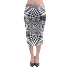 Abstract Animated Ornament Background Midi Pencil Skirt