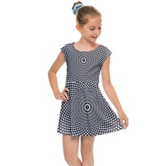 Abstract Animated Ornament Background Kids Cap Sleeve Dress