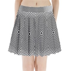 Abstract Animated Ornament Background Pleated Mini Skirt