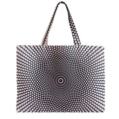 Abstract Animated Ornament Background Zipper Medium Tote Bag