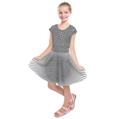 Abstract Animated Ornament Background Kids  Short Sleeve Dress