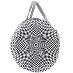 Abstract Animated Ornament Background Giant Round Zipper Tote