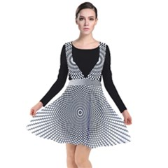 Abstract Animated Ornament Background Plunge Pinafore Dress