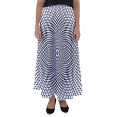 Abstract Animated Ornament Background Flared Maxi Skirt