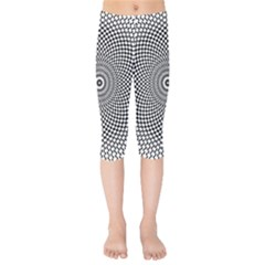 Abstract Animated Ornament Background Kids  Capri Leggings