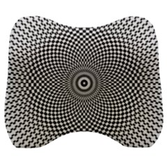 Abstract Animated Ornament Background Velour Head Support Cushion