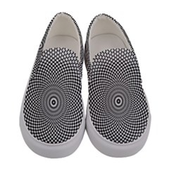 Abstract Animated Ornament Background Women s Canvas Slip Ons