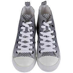 Abstract Animated Ornament Background Women s Mid Top Canvas Sneakers